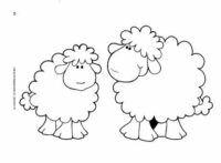 Dos ovejas para colorear