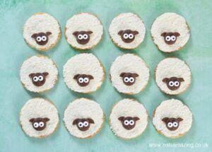 Cómo hacer galletas fáciles de ovejas