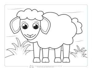 Dibujo de ovejita simpática