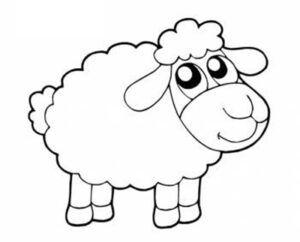 Dibujo de ovejita alegre