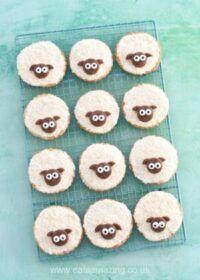 Cómo hacer galletas de mantequilla fáciles de ovejas
