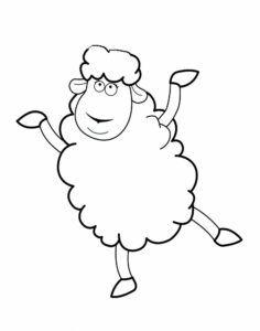 Dibujo de oveja para colorear bailando