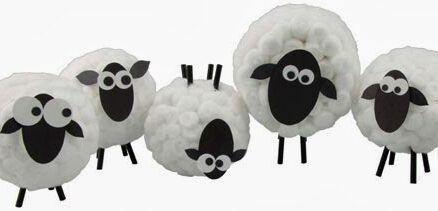 Cómo hacer ovejas de algodón de forma fácil