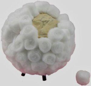 Tutorial ovejas de algodón paso 3