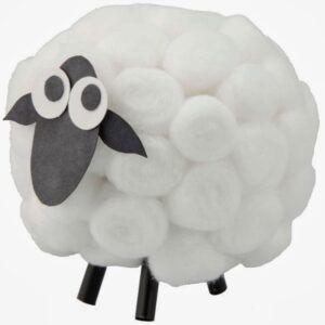 Tutorial ovejas de algodón de forma fácil paso 5