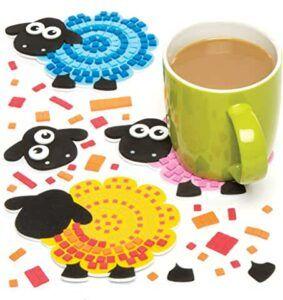 Comprar kit para hacer posavasos con mosaico de ovejas