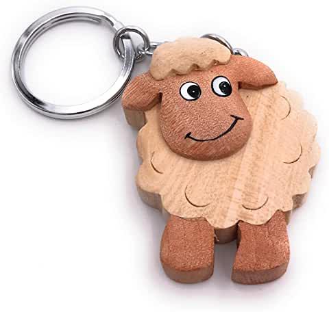 Comprar llavero de madera de oveja