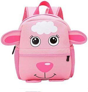 Mochila rosa para niños de oveja
