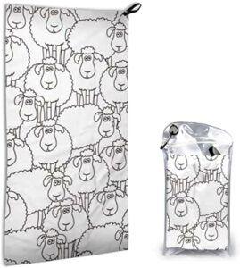 Comprar toalla con dibujos animados de ovejitas
