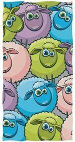 Toalla de mano de ovejas de colores