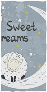 Toalla de mano con dibujo de oveja y estrellas