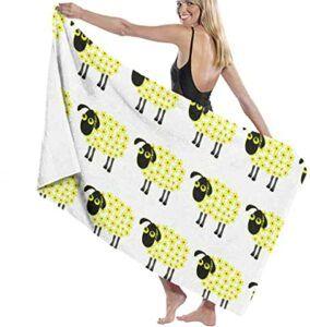 Comprar toalla con ovejas amarillas