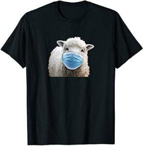 Comprar camiseta de oveja con mascarilla
